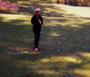 Author golfing in Tennessee